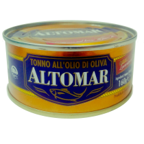 """ALTOMAR"" Yellow Fin Tuna in Olive Oil 160g"