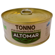"""ALTOMAR"" SkipJack Tuna in Organic Extra Virgin Olive Oil   80g"