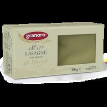 """""""GRANORO"""" Lasagne Semola Spinaci N117 500g  ((Expiry date : 05 Aug 2020))"""
