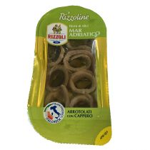 """RIZZOLI"" Adriatic Sea Rolled Anchovy Fillets with Capers in Olive Oil 40g"